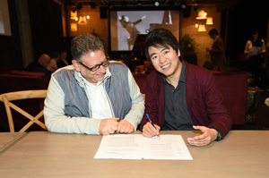 Sir Lucian Grainge and Lang Lang